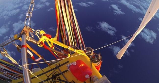 Balloon crew close to crossing Pacific Ocean