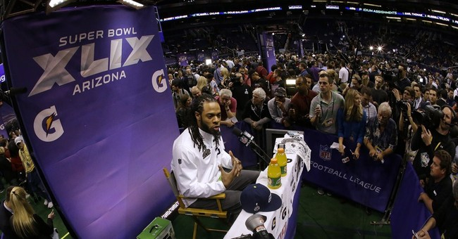 Column: Sherman provides some levity for this Super Bowl