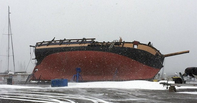 Rhode Island's tall ship falls during storm's strong winds