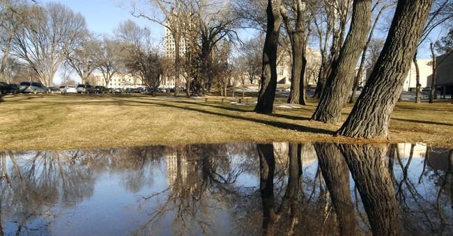 Mid-winter warmth blanketing the Dakotas, breaking records