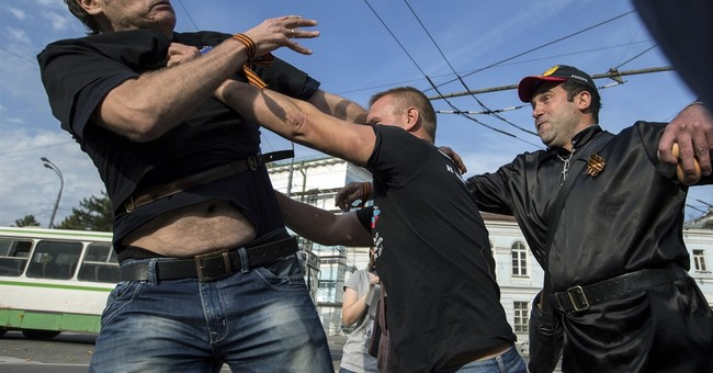 Russian protesters decry war in Ukraine, several detained