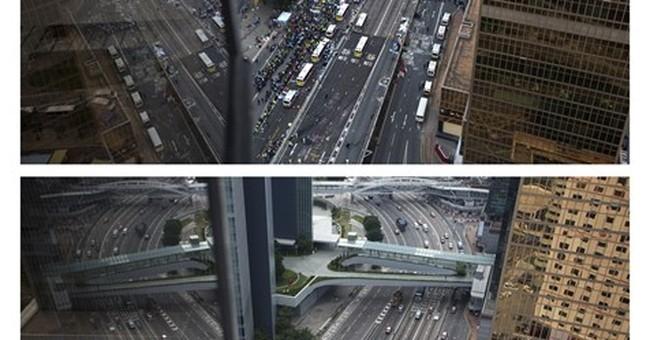 AP PHOTOS: Hong Kong democracy protest sites, 1 year later