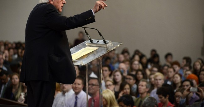 At alma mater, Sanders calls on students to join his fight