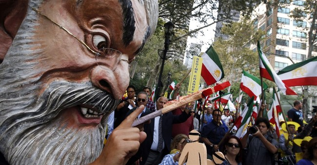 Iranian-Americans rally near United Nations