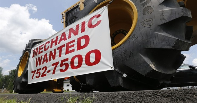 Survey: US businesses added jobs in September at solid pace