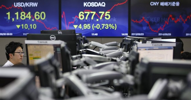 An early jump for US stocks following big gains overseas