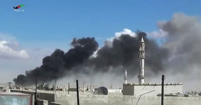 Russia begins airstrikes in Syria, but West disputes targets