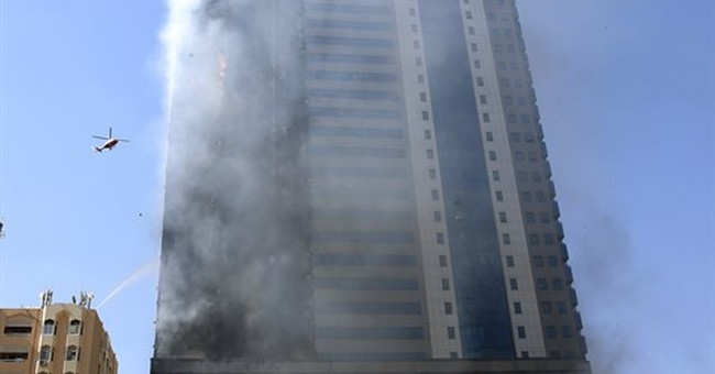 High-rise tower catches fire in Emirati city of Sharjah
