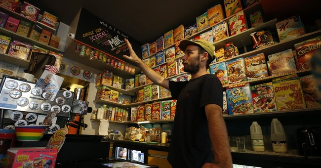 In divided London, trendy cereal cafe targeted by protesters