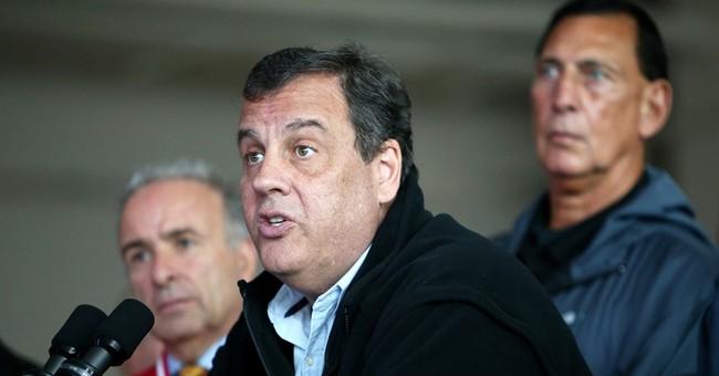 Christie wears fleece for storm briefing but not THAT fleece