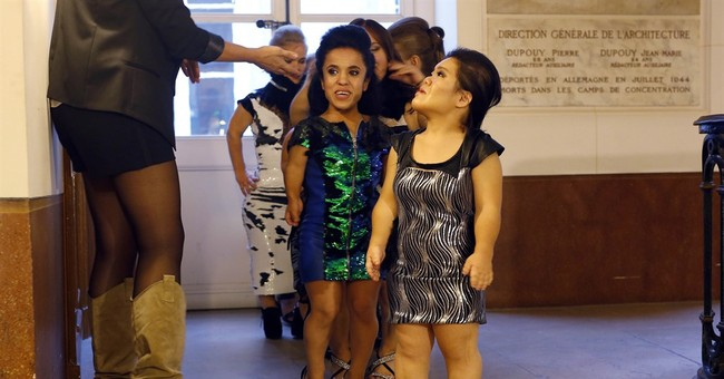 AP PHOTOS: French ministry hosts dwarf fashion show