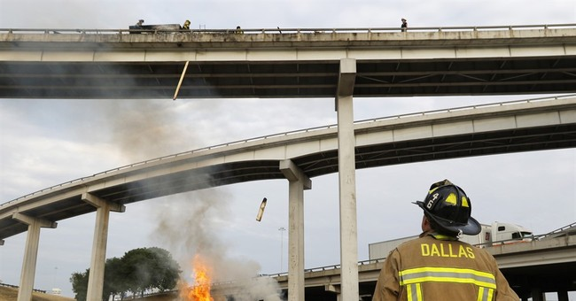 4 dead in fiery wreck on Dallas overpass