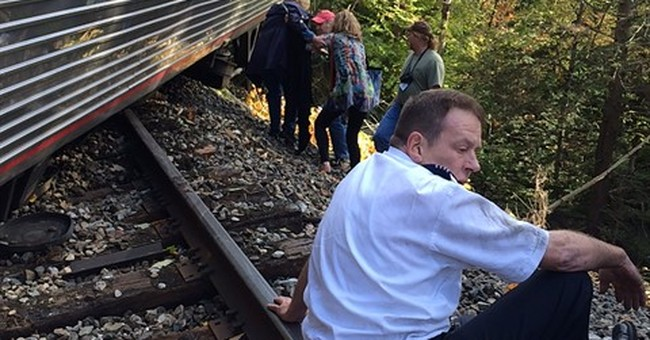 Amtrak train hits rocks on track, derails in central Vermont