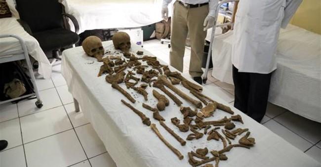 Skeletons, skulls under Afghanistan's presidential palace