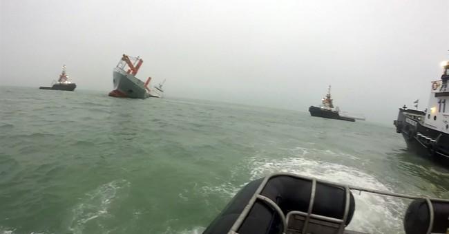 2 ships collide off Belgium's Zeebrugge; crew of 11 rescued