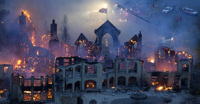 Owners of Ohio mansion gutted by fire sue insurer for $60M