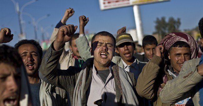 Yemen rebels beat, detain demonstrators in capital