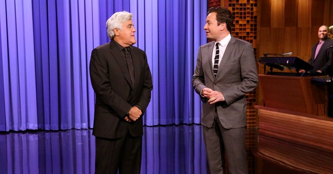 Jay Leno revisits 'Tonight' for monologue