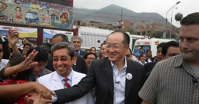 At 'home' in Peru, World Bank chief unfazed by slower growth