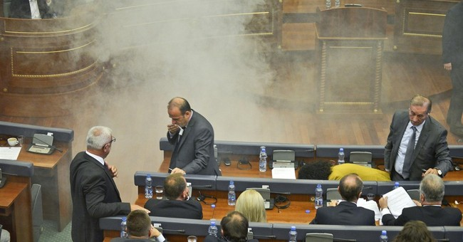 Kosovo opposition disrupts parliament with tear gas