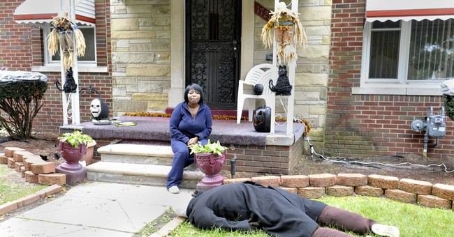 Face-down dummy Halloween prank prompts repeated 911 calls