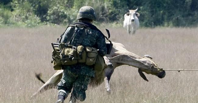 Image of Asia: Practicing evasive maneuvers in Philippines