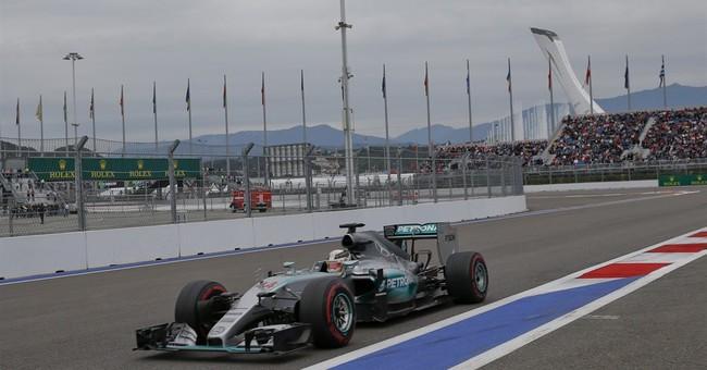 Hamilton wins Russian GP as Rosberg fails to finish