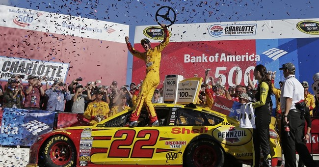 Logano races into 3rd round of playoffs with Charlotte win
