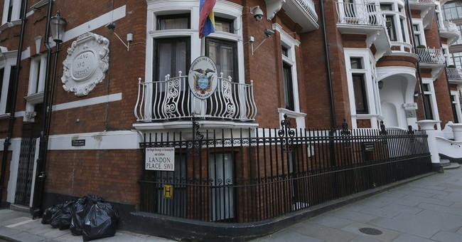 UK police removed from embassy where Assange holed up