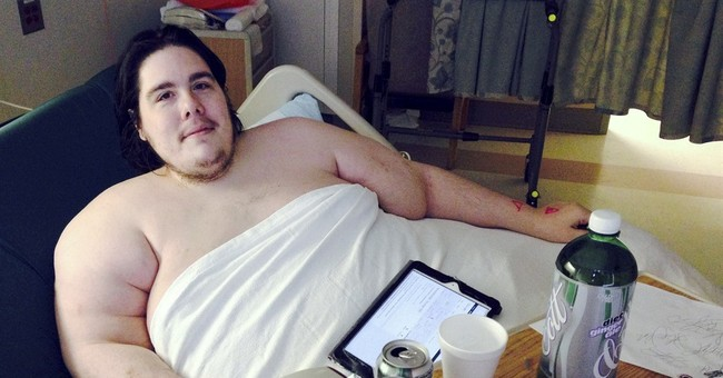 800-pound Rhode Island man says he's determined to slim down