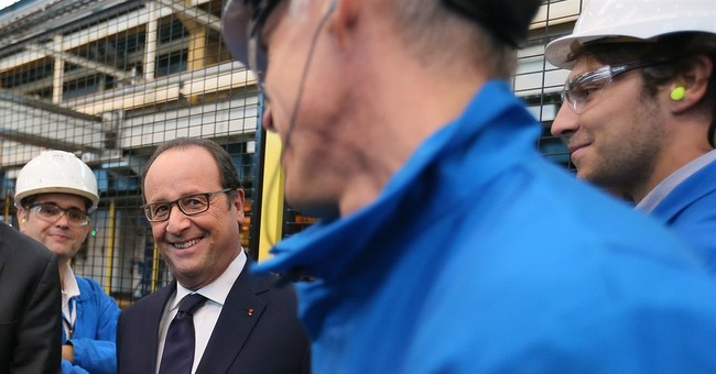 French president is looking to sell new ships to Russia