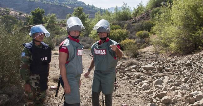 Daniel Craig inspects the UN's demining work in Cyprus
