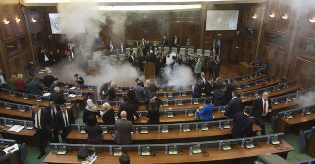 Kosovo opposition uses tear gas to disrupt Parliament