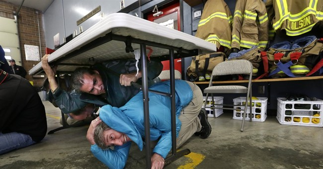 Californians conduct annual earthquake safety drill