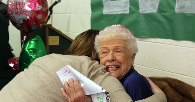 High school cafeteria worker celebrates 95th birthday