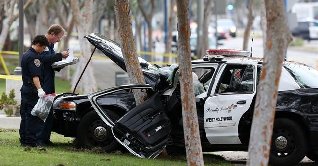 Los Angeles County patrol car crash kills pedestrian