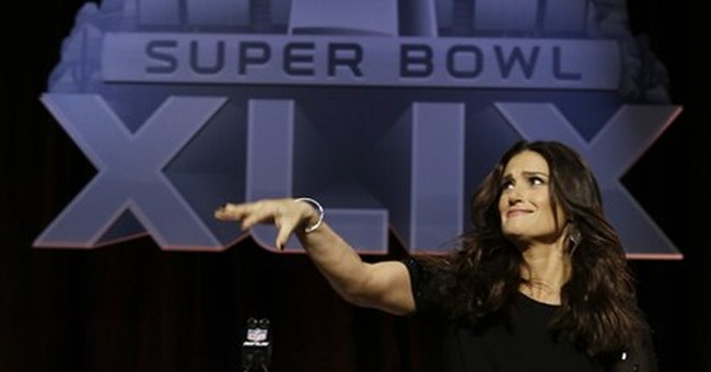 Idina Menzel ready for spotlight at Super Bowl