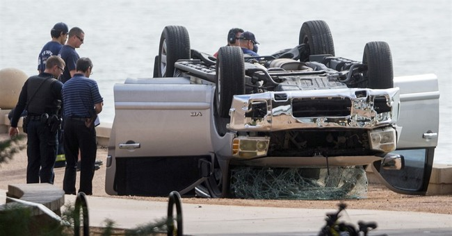 Police say father meant to drive family into Arizona lake