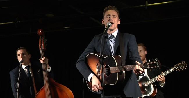 Actor Tom Hiddleston sings as Hank Williams in Nashville