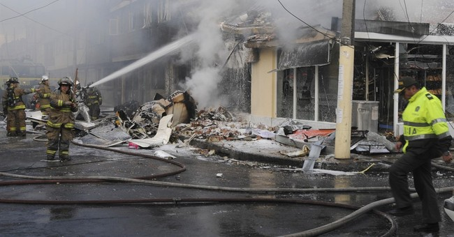 Small plane crashes in Colombia capital; 5 dead, 7 injured