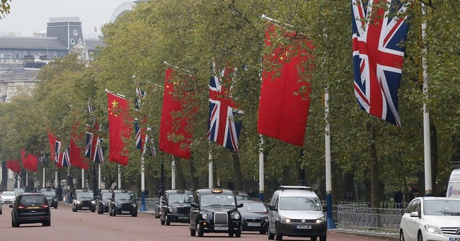 Chinese president begins busy state visit to Britain