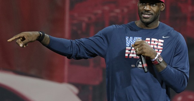 LeBron, first lady Michelle Obama promote education