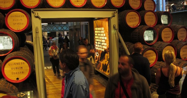 History and pints on tap at Dublin's Guinness Storehouse