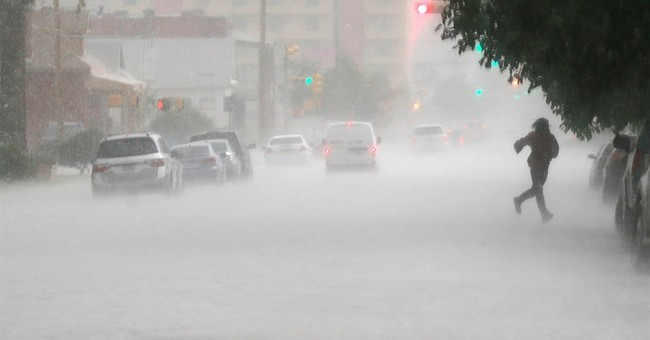Flooded Interstate 45 backs up traffic 12 miles