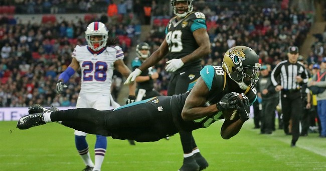 Jaguars hold on to beat Bills 34-31 in London