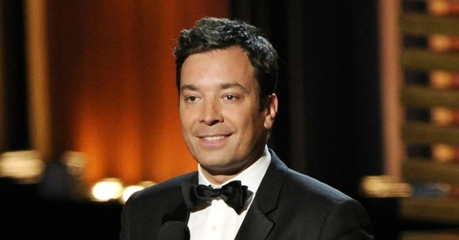Jimmy Fallon falls again, hurts fingers on other hand