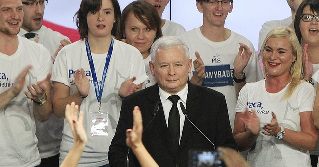 Exit poll: Right-wing party wins Poland's parliamentary vote