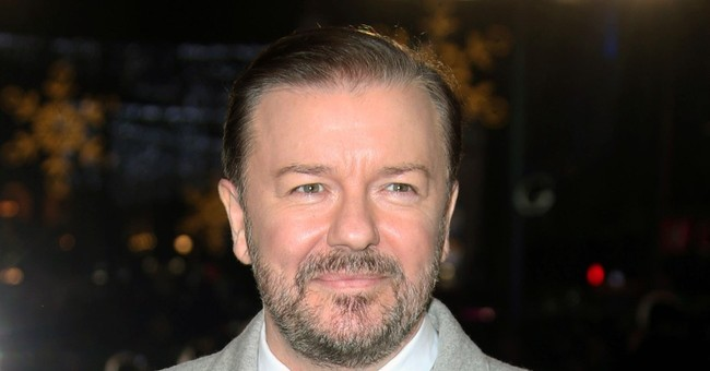 Caustic comic Ricky Gervais to return as Golden Globes host