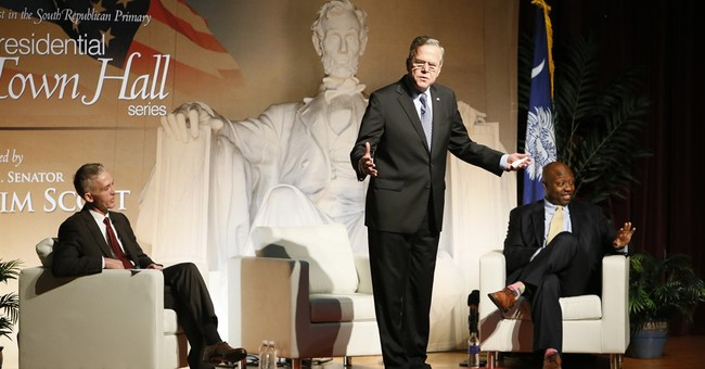 Jeb Bush gets tout from brother as campaign focuses on Rubio