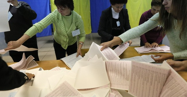 Exit polls in Ukraine local elections show east-west split